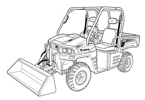 Product picture 3450 Utility Vehicle Service Repair Manual Download